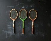 Choice of Tennis Racket Sets of Three From Nowvintage on Etsy