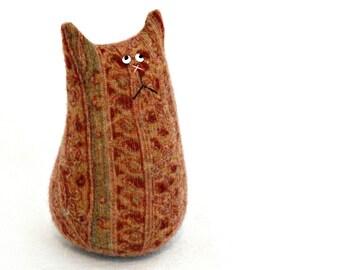 Plush Cat Doll - Stuffed Animal Cat - Cashmere Cat - Tiny Cat - Cat Lover Gift - Soft Kitty Cat - Soft Toy - Paisley Cat - Stuffed Toy Cat