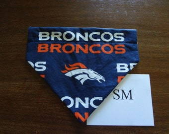 Denver Broncos -  dog bandana- over the collar-small