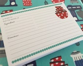RESERVED 3 sets of 50 Double Sided 4x6 Kitchen Recipe Cards - Perfect for Kitchen Shower