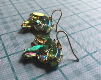 Crystal Summer Leaf Earrings