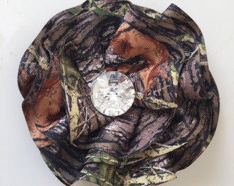 New Mossy Oak BREAK UP Camo Bling Large Flower Pin Clip Combo Prom Dresses Purses