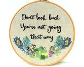 Don't Look Back Hoop hand embroidery pdf pattern instant download