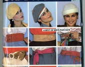 Vintage 70s MCCalls 645 Misses Set of Waist Cincher Belts and Hats Sewing Pattern