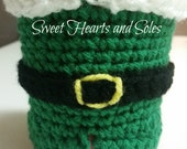 Buddy Handmade Crochet Elf Coffee Sleeve PATTERN ONLY (plus rights to sell finished product) - This is NOT a finished item!!
