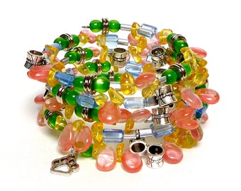 OFF THE CUFF Coil Beaded Bracelet by Beading Divas Fundraiser