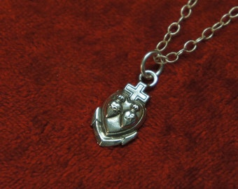 Antique French Hope, Faith Charity Necklace