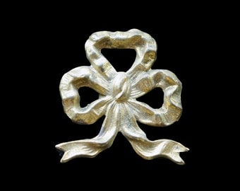 Antique French Brass Bow Decorative Element