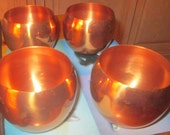 Vintage Copper cocktail or drinking mugs. 4 to set. From 1970's or earlier.