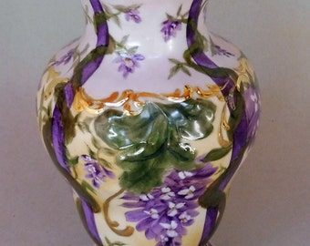 Purple Wisteria Vase