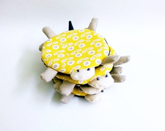 Drink Coaster, Yellow, Fabric Coaster, Turtle Coaster, Cute Coaster, Mug Coaster, Mug Cozy, Handmade Coaster - Housewarming Gift