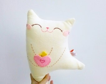 Cute Stuffed Cat, Plush Cat, Cat Decor, Toddler Toy Cat, Cat Softie - Kitty Dancing