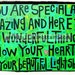 """You Are Special & Amazing- New!  """"Mini-s"""" by Julie Abbott Art"""