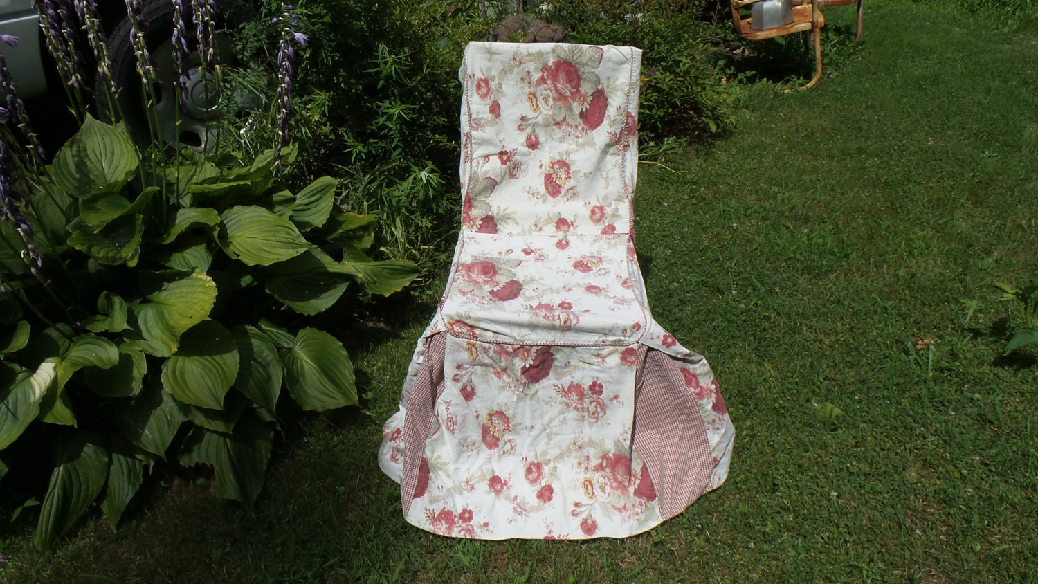 Vintage Shabby Cotage Waverly Home Chair Cover By Thebedpost02