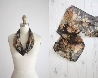 chiffon floral scarf