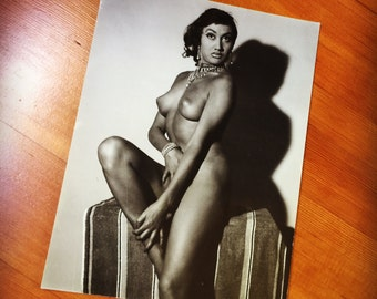 Vintage Jacques Exetrier, exotic nude photograph