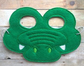 Children's Crocodile Alligator Felt Mask