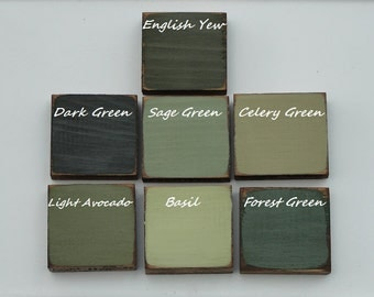 Color Chart Options - Green Tones