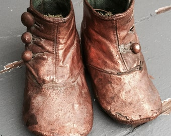 Victorian Bronzed Baby Shoes