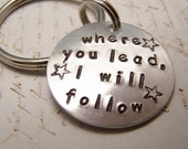 Gilmore Girls Keychain. Where You Lead, I will Follow
