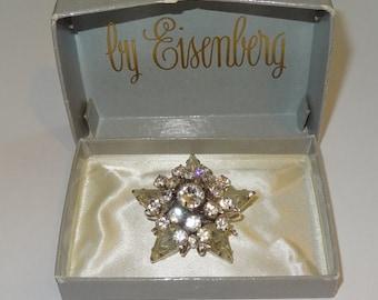 Vintage Original Eisenberg Pin with Original Box