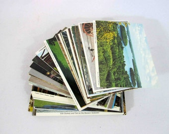 Vintage Postcard Collection of 130 Cards / Instant Collection of Retro Postcards. Circa 1960's.