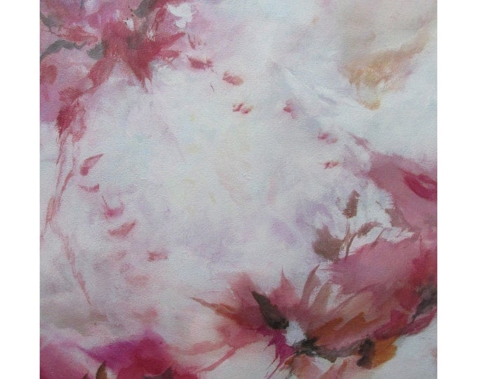 Original Expressionism Abstract Painting Modern art ebsq red burntsienna gray sepia. Flutter
