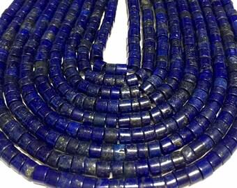 Lapis rondelle heishi beads