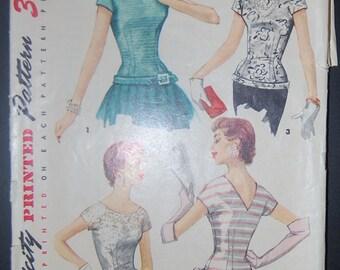 Simplicity 1126 Vintage Sewing Pattern Ladies Top