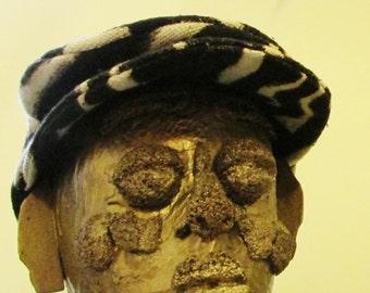 Black and White Mud Cloth cap, small