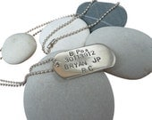 Listing for Toni-Custom Made Sterling Silver Dog Tag Necklace (Mens, Fathers, Baby, Pets)UK Hallmarked