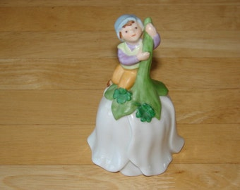 Avon 1983 Garden Fairy Collectible Porcelain Bell