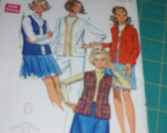 Butterick 5343 Vintage Jacket and Vest Pattern Size 16  New - Uncut