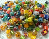 Murrine Millefiore 96 coe, about 70 pieces (1 oz), Best Quality Glass Slices, Assortment (28 grams) Murrini