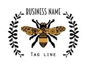 Custom Modern Bee Logo Design