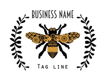 Custom Modern Bee Logo Design