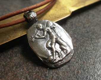 Silver Fairy Pendant Necklace Fairy Tale Jewelry