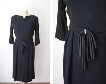 As Is Black 1950s Cocktail Dress - L/XL