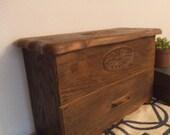 Faux Wood Storage Chest ~ desk organizer ~ jewelry box ~ sewing box Lerner Cottage Chic
