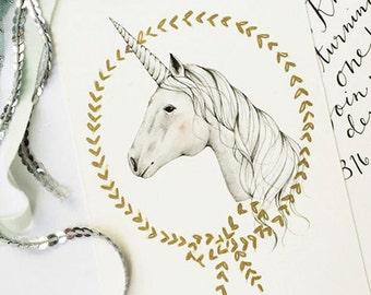 Unicorn Magic - Birthday Invitation