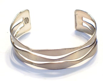 Renoir Sauteur Sterling Cuff. Modernist Sterling Cuff Bracelet, Vintage Renoir Cuff, Rare RENOIR Sterling Silver Bracelet, Modernist Cuff