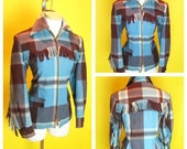 Vintage 1950s Siesta Western Fringed Jacket  S/M