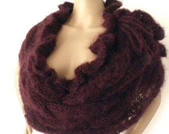 SALE Cape poncho, Cape shawl, Cape stole, Boho cape, Ruffled cape, Knit shoulderette, Braid cape, Mohair cape,Victorian cape