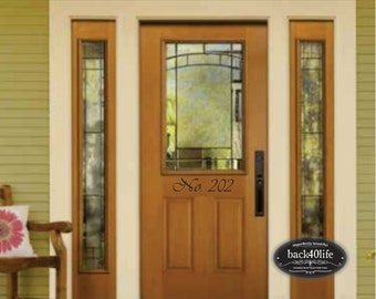 Front Door Entry Street Address Numbers Wall Vinyl Decal (E-002b)