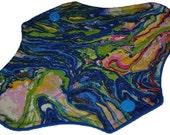 Liner Core- Blue Marbles Reusable Cloth Mini Pad- WindPro 7.5 Inches (19 cm)