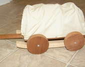 Covered Wagon, Pioneer, Tan and Cream, Early American, Western, Pull Toy, Home Decor, Wagon, Children, Handmade, Free Shipping, Wooden