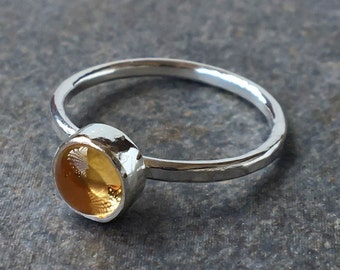 Rings, Citrine, Citrine Rings, Silver Ring, Sterling Silver Ring, Stackable Rings, Made to Order