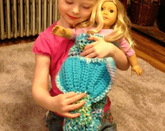 Mermaid Tail Doll Blanket  Mermaid Blanket Doll  Doll Mermaid Blanket   Ready  to Ship Made to Order