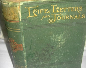 Antique Alcott book, Life Letters and Journals, Louisa May Alcott, Alcott biography, gift book, collectible book, illustrated Alcott book