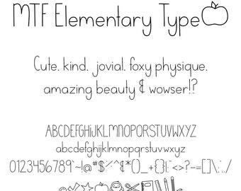 MTF Elementary Type Font
